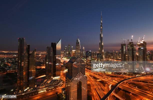 A general view of Burj Khalifa on February 6 2017 in Dubai United Arab Emirates
