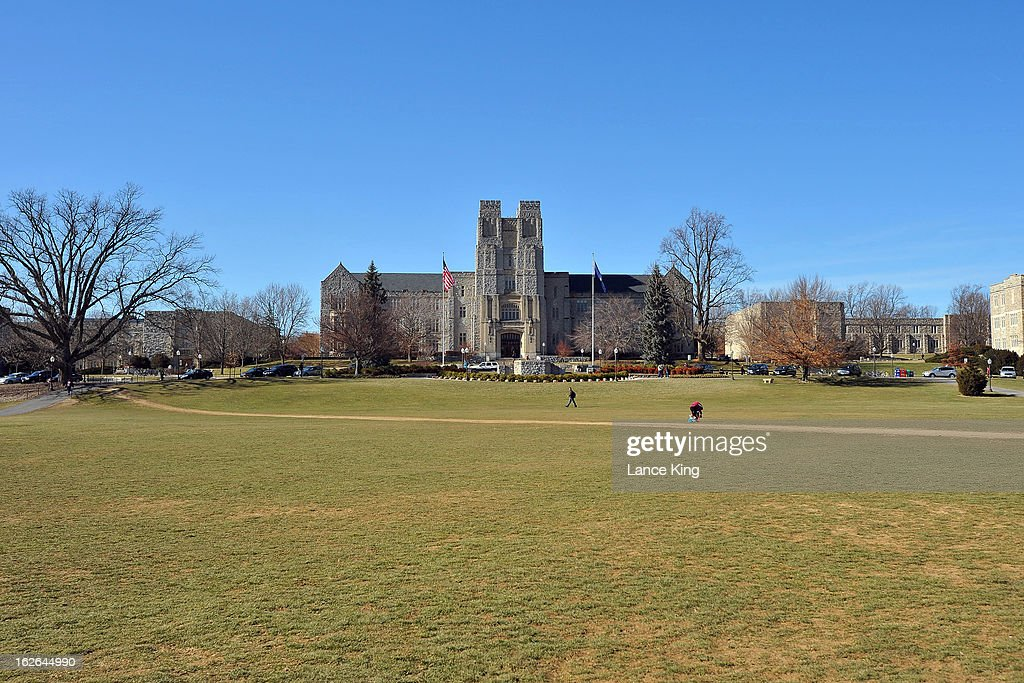 A general view of Burruss Hall (center building) on the campus of Virginia Tech on February 21, 2013 in Blacksburg, Virginia.