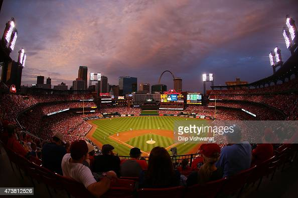 A general view of Busch Stadium during a game between the St Louis Cardinals and the Detroit Tigers on May 17 2015 in St Louis Missouri