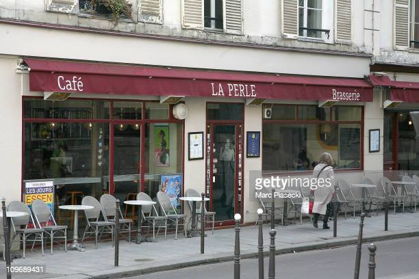 General view of cafe 'La Perle' in Le Marais where John Galliano alleged insulted two people on March 1 2011 in Paris France