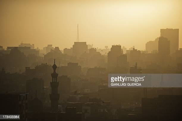 A general view of Cairo's skyline and landscape is seen at sunset on July 13 2013 Egypt's new prime minister edged closer to forming a cabinet as...