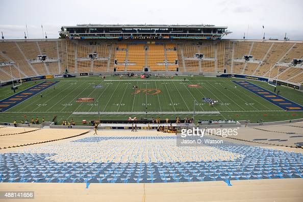 General view of California Memorial Stadium before the game at between the California Golden Bears and the San Diego State Aztecs on September 12...