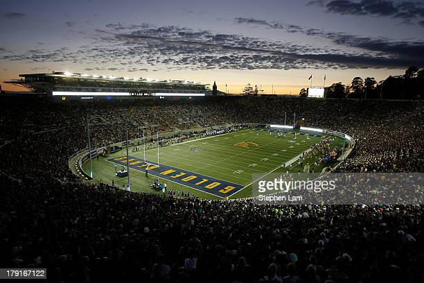 A general view of California Memorial Stadium during a game between the California Golden Bears and the Northwestern Wildcats on August 31 2013 at...