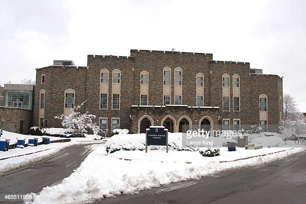 A general view of Cameron Indoor Stadium following a winter storm on campus of Duke University on February 26 2015 in Durham North Carolina