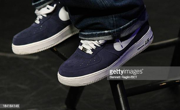 A general view of Cam'ron's shoes during 106 Park at 106 Park studio on October 10 2013 in New York City