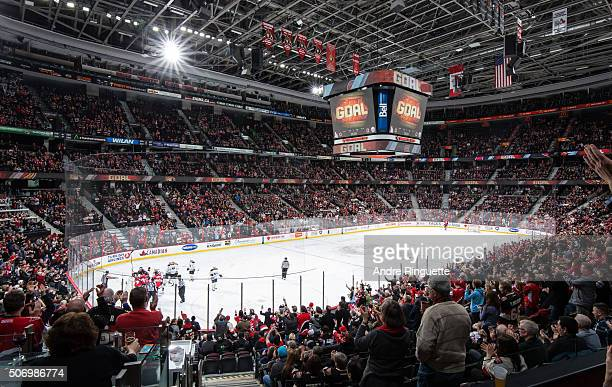 A general view of Canadian Tire Centre as fans celebrate a first period goal by the Ottawa Senators against the Buffalo Sabres on January 26 2016 in...