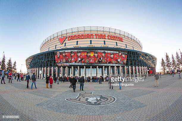 A general view of Canadian Tire Centre as fans enter the arena before an NHL game between the Ottawa Senators and the Montreal Canadiens on March 19...