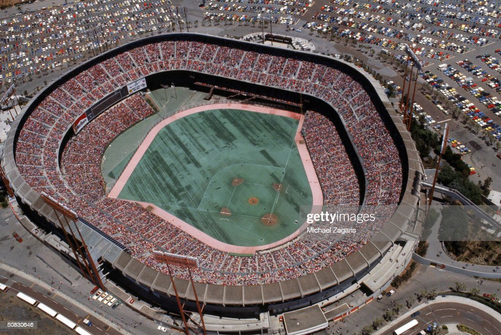 A general view of Candlestick Park during a soldout game against the Los Angeles Dodgers on May 28 1978 in San Francisco California