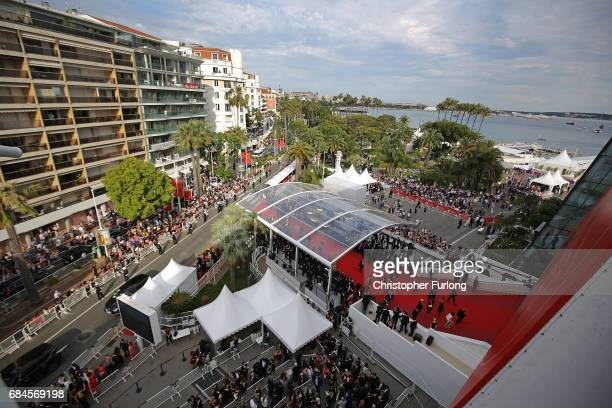 A general view of Cannes as guests attend the 'Loveless ' screening during the 70th annual Cannes Film Festival at Palais des Festivals on May 18...