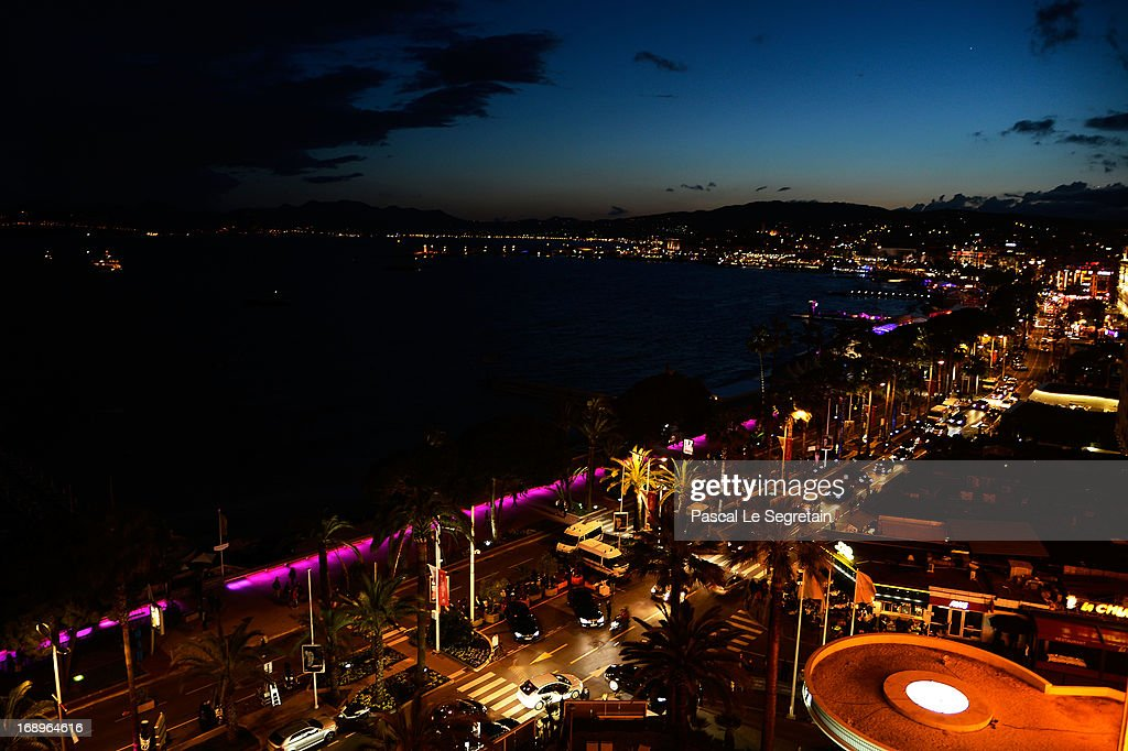 A general view of Cannes at the L'Or Sunset Showcase with Micky Green for L'Oreal during The 66th Annual Cannes Film Festival on May 17, 2013 in Cannes, France.