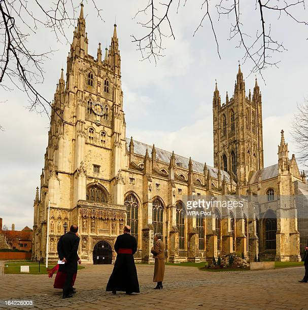 A general view of Canterbury Cathedral ahead of the enthronement of the Archbishop of Canterbury on March 21 2013 in Canterbury England The newly...