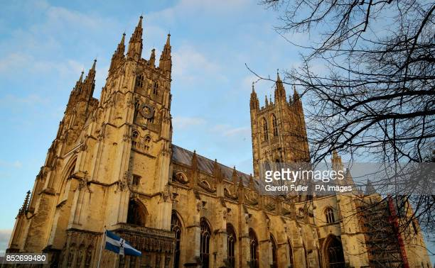 A general view of Canterbury Cathedral Kent where auditions for the first girls' choir at the cathedral after more than 900 years of male singing...