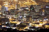 A general view of Cape Town's central business district ahead of the 2010 FIFA world Cup on October 22 2009 in Cape Town South Africa