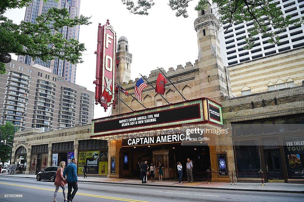 A general view of 'Captain America: Civil War' Atlanta Cast & Filmmakers screening at The Fox Theatre on May 1, 2016 in Atlanta, Georgia.