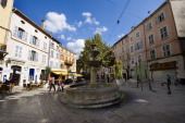 A general view of Caramy square on October 9 in Brignoles south of France