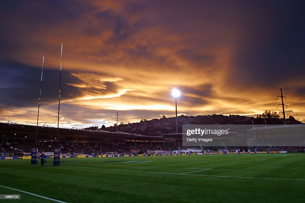 A general view of Carisbrook Park during the Super 12 match between the Waratahs and the Highlanders May 3, 2003 at Carisbrook Park in Dunedin, New Zealand. The Waratahs won 27 - 23.