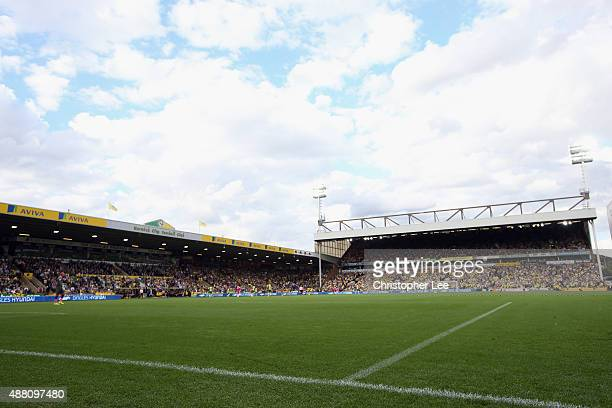 General view of Carrow Road Stadium during the Barclays Premier League match between Norwich City and AFC Bournemouth on September 12 2015 in Norwich...