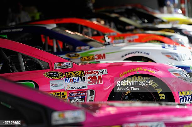 A general view of cars in the garage area prior to qualifying for the NASCAR Sprint Cup Series Goody's Headache Relief Shot 500 at Martinsville...