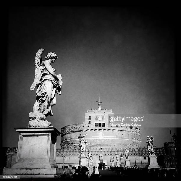 A general view of Castel Sant'Angelo on January 26 2014 in Rome Italy