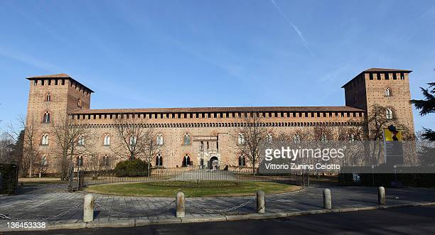 A general view of Castello Visconteo on January 5 2012 in Pavia Italy Pavia is a town of the Lombardy region northern Italy The university of Pavia...