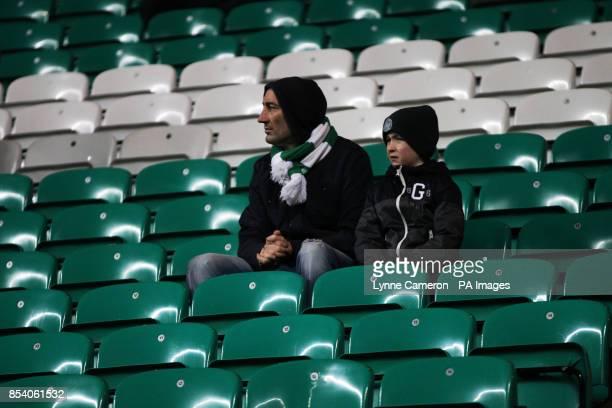 General view of Celtic fans