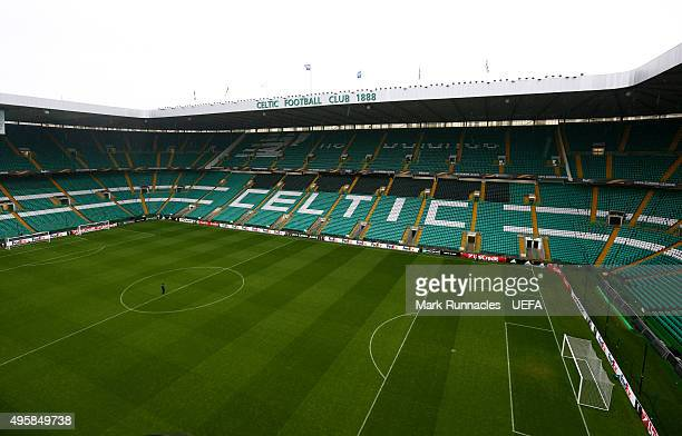 A general view of Celtic Park ahead of kick off during the UEFA Europa League match between Celtic and Molde on November 5 2015 in Glasgow United...