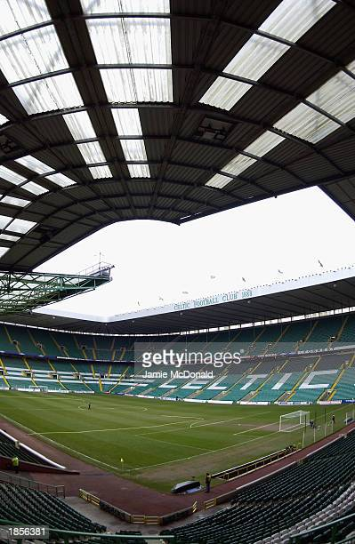 General view of Celtic Park taken during the Scottish Premier League match between Glasgow Celtic and Glasgow Rangers held on March 8 2003 at Celtic...
