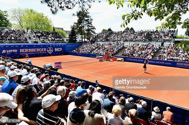 A general view of Center Court is pictured during Day seven of the Nuernberger Versicherungscup 2015 on May 22 2015 in Nuremberg Germany