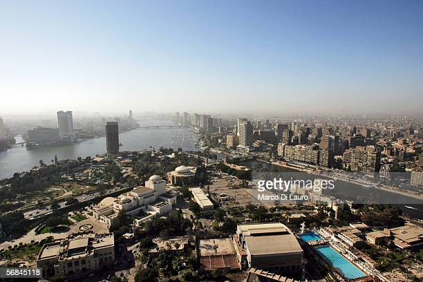 CAIRO EGYPT FEBRUARY 9 A general view of Central Cairo is seen from the 185 meters high Cairo Tower on February 09 2006 in Central Cairo Egypt Cairo...