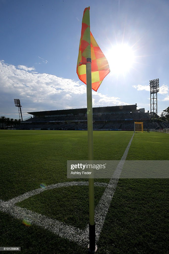 General View of Central Coast Stadium during the round 19 A-League match between the Central Coast Mariners and Adelaide United at Central Coast Stadium on February 14, 2016 in Gosford, Australia.