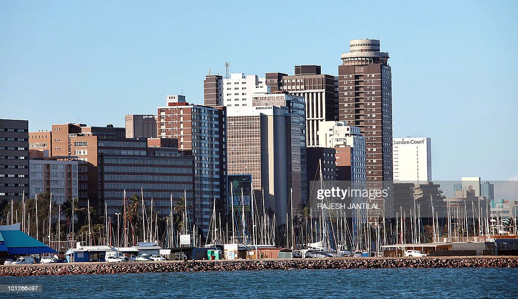 A general view of Central Durban overlooking the Durban Harbour on May 29 2010 is seen in Durban South AfricaThe port of Durban the ninth largest...