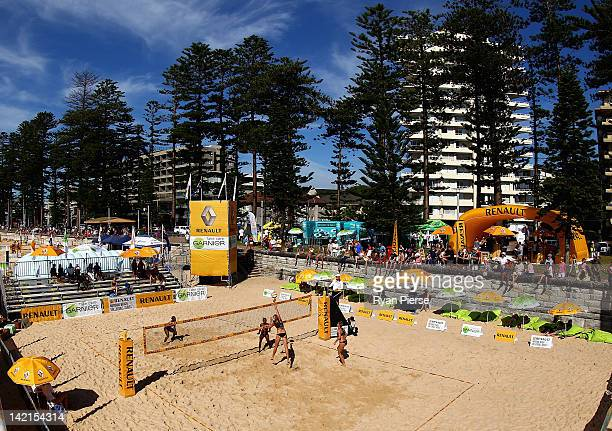 A general view of centre court during day two of the National Beach Volleyball Series at Manly Beach on March 31 2012 in Manly Australia