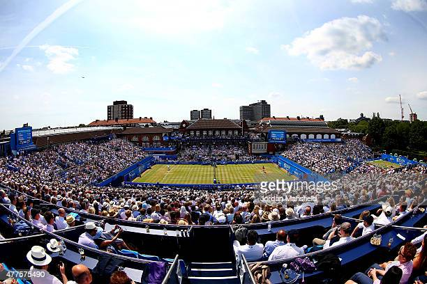 A general view of centre court during the match between Andy Murray of Great Britain and Fernando Verdasco of Spain during day four of the Aegon...