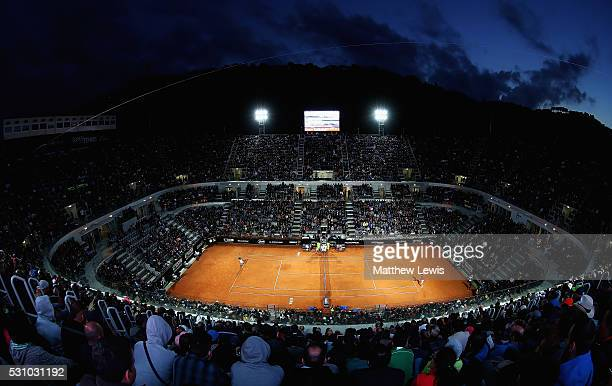 A general view of centre court during the Novak Djokovic of Serbia and Thomaz Bellucci of Brasil match during day five of The Internazionali BNL...