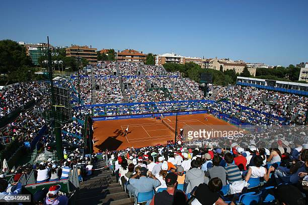 A general view of centre court during the Open Sabadell Atlantico Barcelona 2008 Tennis at the Real Club on May 1 2008 in Barcelona Spain