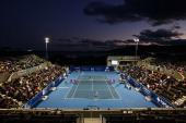 A general view of centre court during the semi final match between Jarmilla Groth of Australia and Klara Zakopalova of Czech Republic during day six...