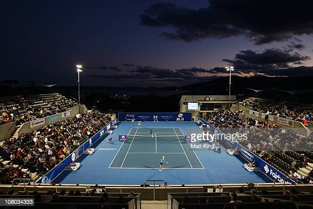 A general view of centre court during the semi final match between Jarmilla Groth of Australia and Klara Zakopalova of Czech Republic during day six...