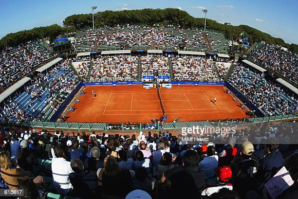 A general view of Centre Court during the Tennis Masters Roma at the Foro Italico in Rome Italy on May 9 2002