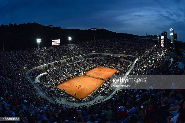 General view of Centre Court during the Thiird Round match between Novak Djokovic of Serbia and Thomaz Bellucci of Brazil on Day Five of The...