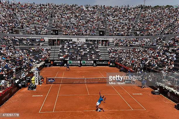 General view of Centre Court during the Third Round match between Rafael Nadal of Spain and John Isner of USA on Day Five of The Internazionali BNL...