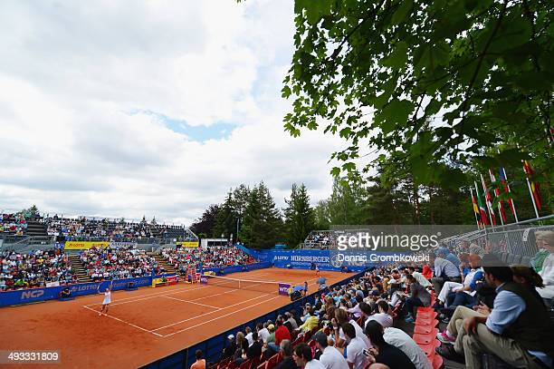 A general view of Centre Court is pictured during Day 7 of the Nuernberger Versicherungscup on May 23 2014 in Nuremberg Germany