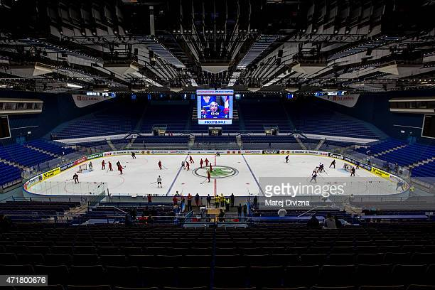 A general view of CEZ Arena before group B match between USA and Finland at CEZ Arena on May 1 2015 in Ostrava Czech Republic