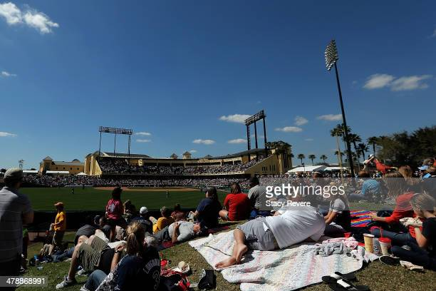 General view of Champion Stadium during a game between the Tampa Bay Rays and the Atlanta Braves on March 14 2014 in Lake Buena Vista Florida Atlanta...