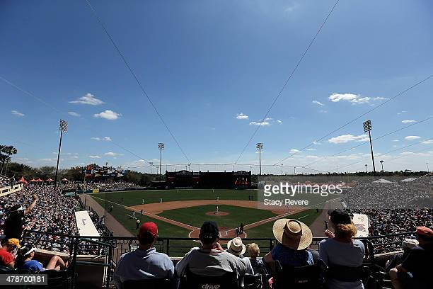 General view of Champions Stadium during a game between the Tampa Bay Rays and the Atlanta Braves on March 14 2014 in Lake Buena Vista Florida