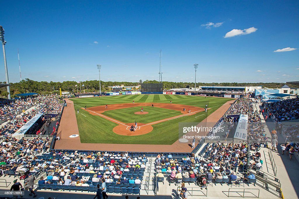 A general view of Charlotte Sports Park during a game between the Tampa Bay Rays and the Minnesota Twins on March 2 2014 in Port Charlotte Florida