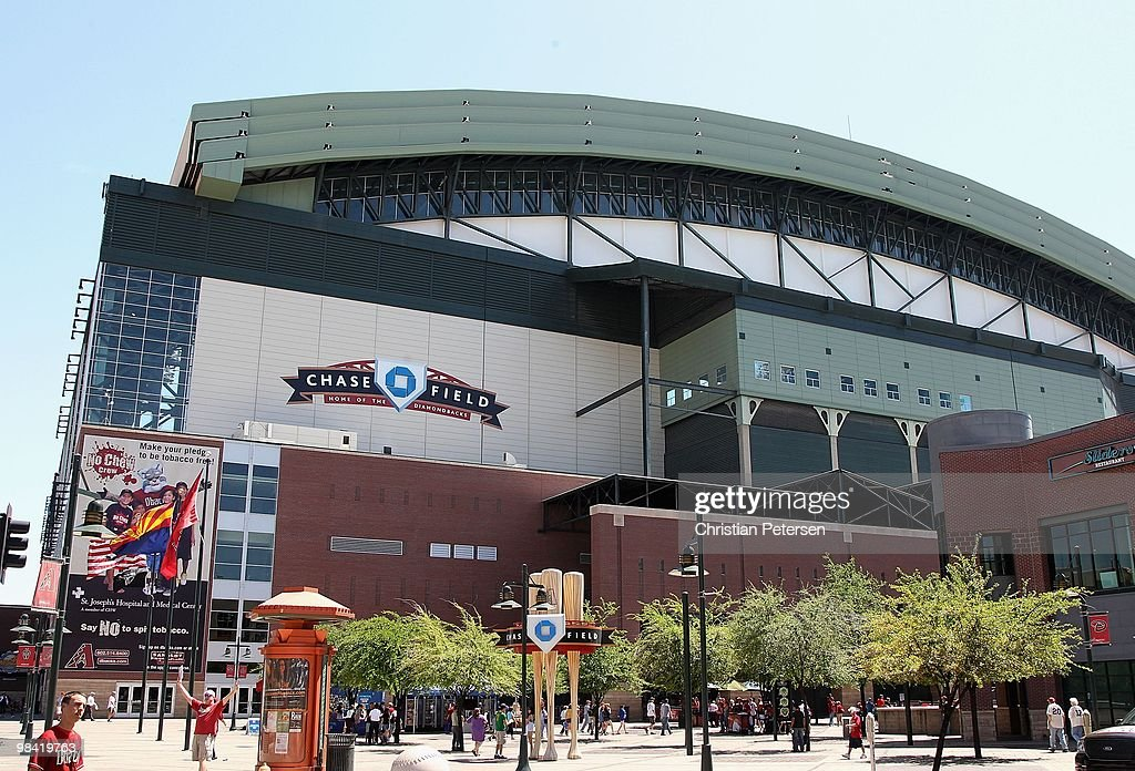 General view of Chase Field before the Opening Day major league baseball game between the San Diego Padres and the Arizona Diamondbacks on April 5...