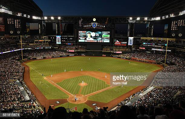 A general view of Chase Field during a game between the Arizona Diamondbacks and the New York Yankees on May 16 2016 in Phoenix Arizona Diamondbacks...