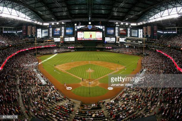 General view of Chase Field during the game between the Detroit Tigers and the Arizona Diamondbacks at Chase Field in Phoenix Arizona on May 18 2008...