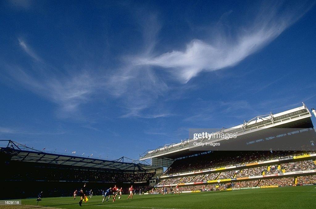General view of Chelsea Football Club's ground at Stamford Bridge in London Mandatory Credit Allsport UK /Allsport