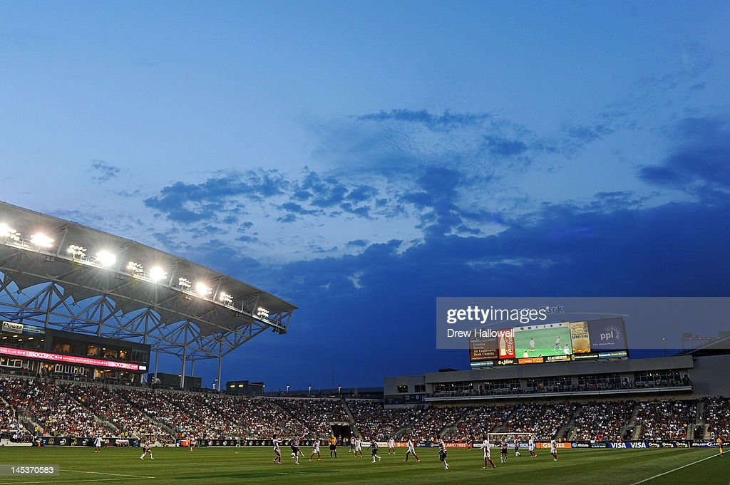 A general view of China v USA women's soccer at PPL Park on May 27, 2012 in Chester, Pennsylvania. USA won 4-1.